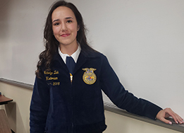 SHS student Madison Wimbish poses at the FFA state contest.